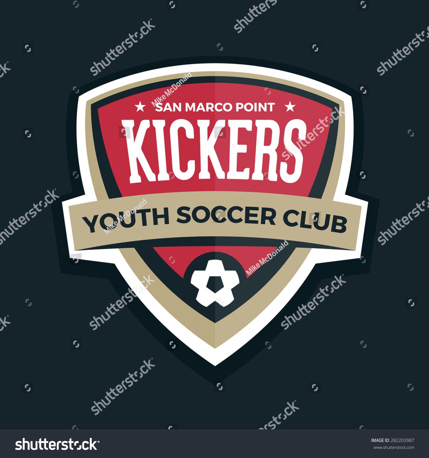 Soccer Shield Logo Football Badge Crest Stock Vector 282203987 ...