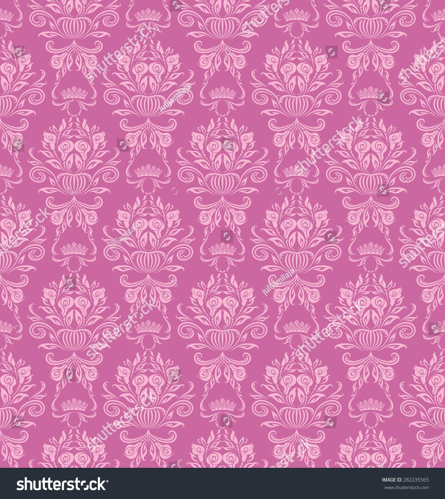 Damask Seamless Floral Pattern Royal Wallpaper Stock Illustration 282235565
