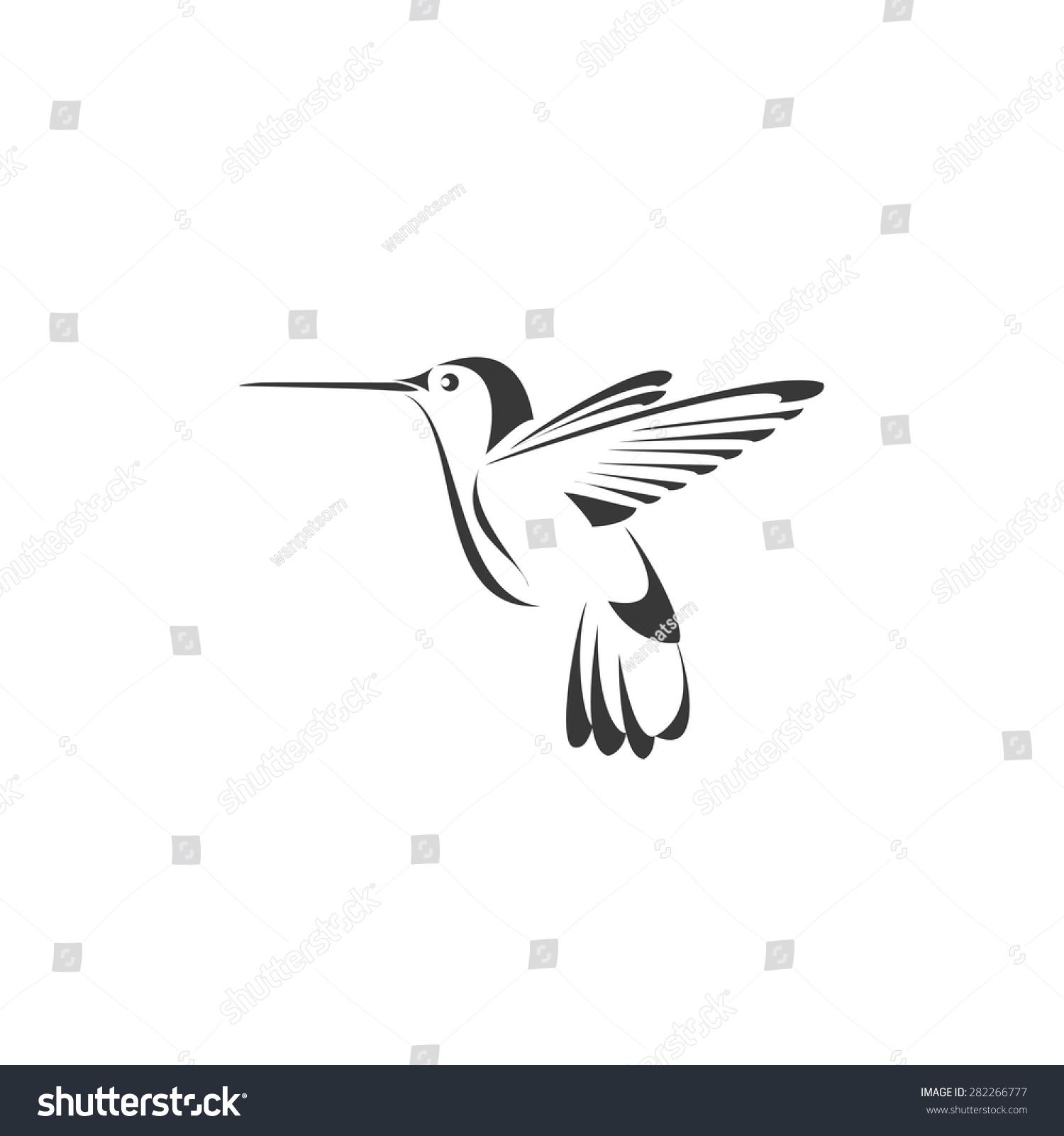 hummingbird icon design template vector stock vector royalty free