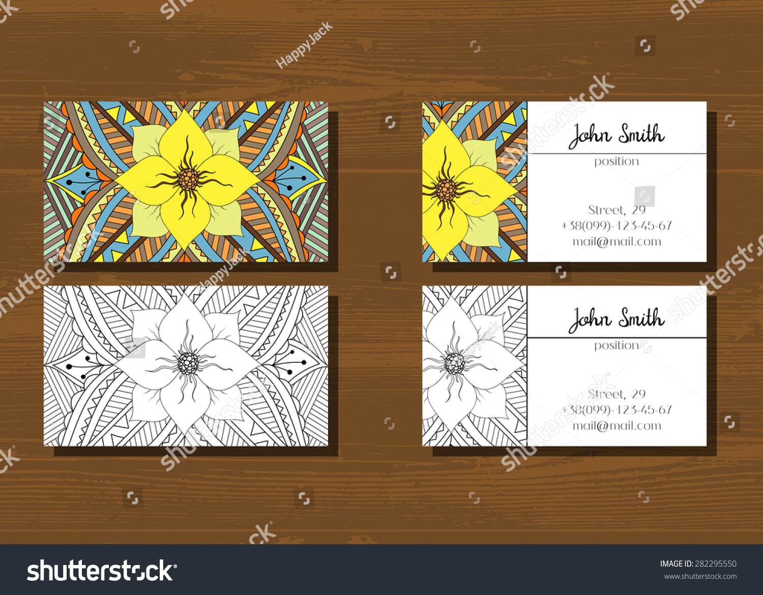Business Cards Two Sides Your Company Stock Vector 282295550 ...