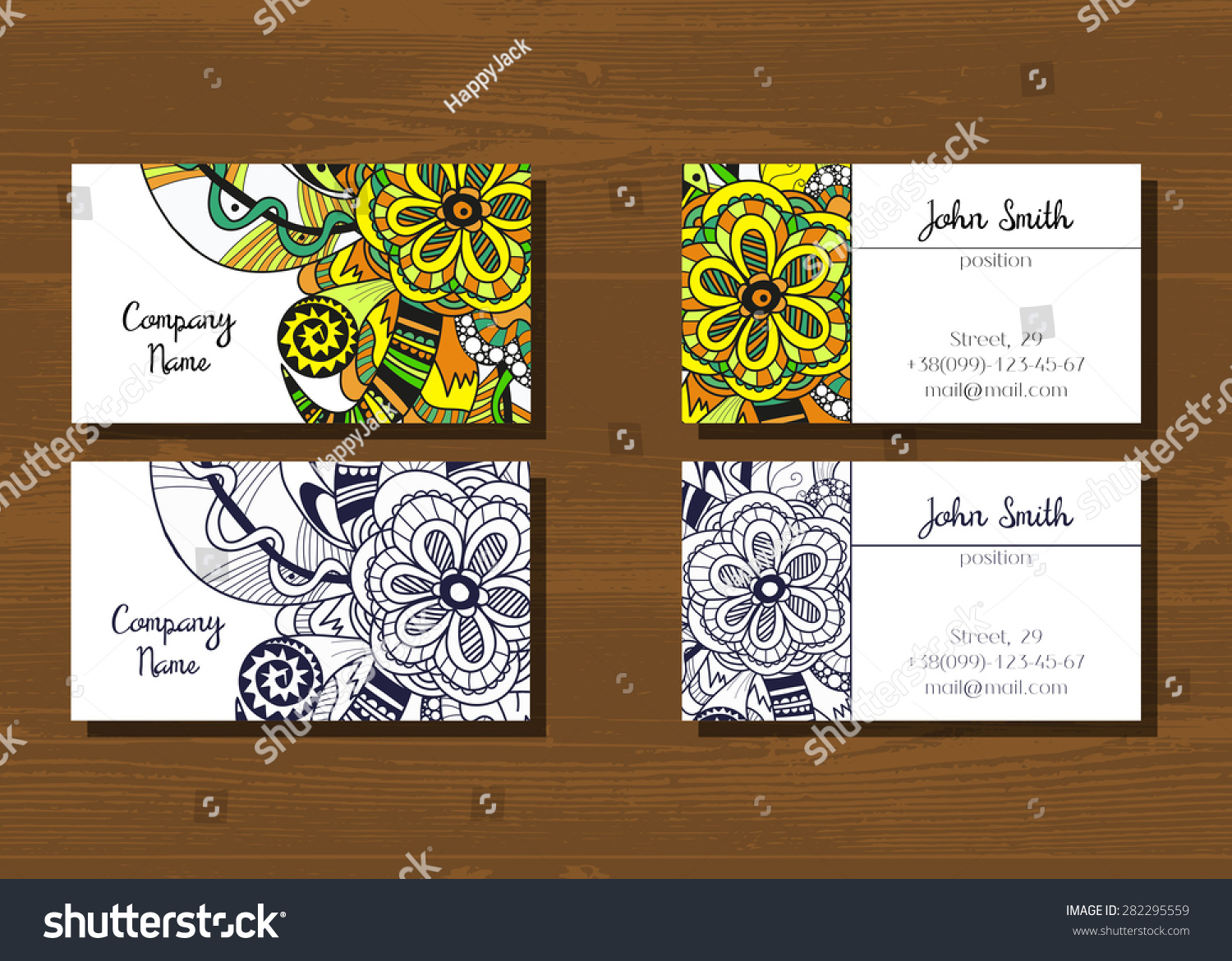 Generous Business Cards With Two Addresses Photos - Business Card ...