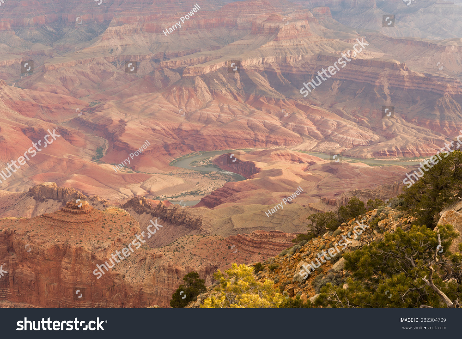 Colorado river carving thru the grand canyon from