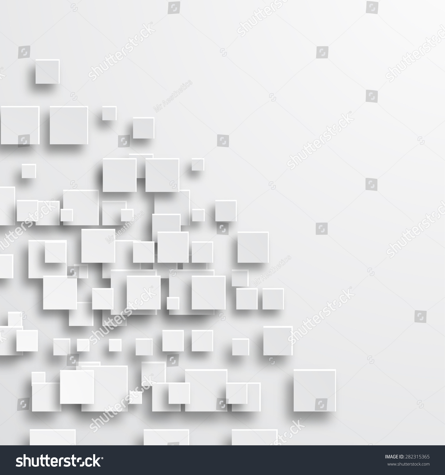 Modern Square Abstract Background Creative Design Stock Illustration