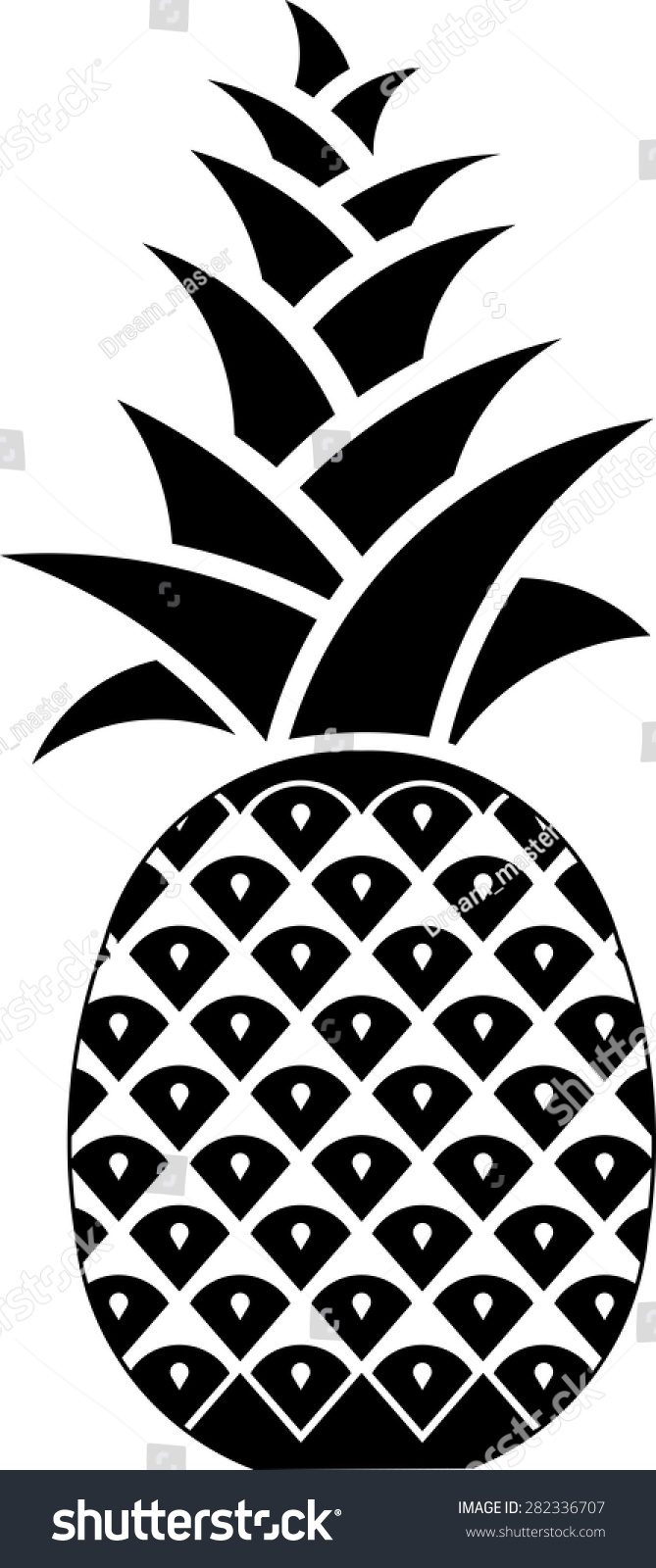 Icon Pineapple Symbol Hospitality Editable Vector Stock Vector