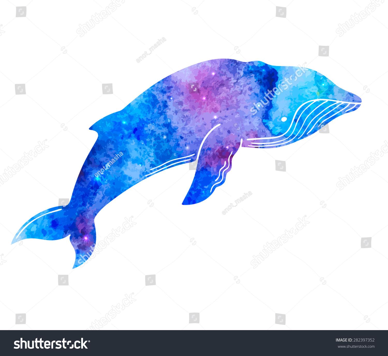 royalty free watercolor humpback whale hand drawn u2026 282397352