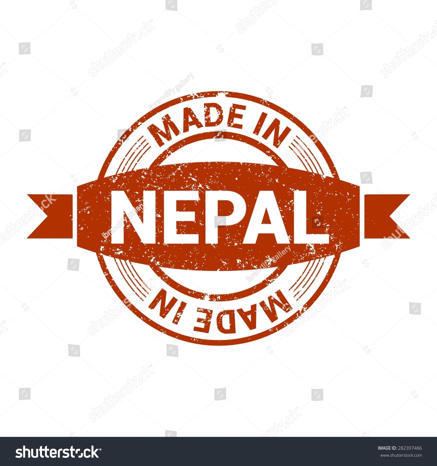 Made Nepal Round Red Grunge Rubber Stock Vector Royalty Free ...