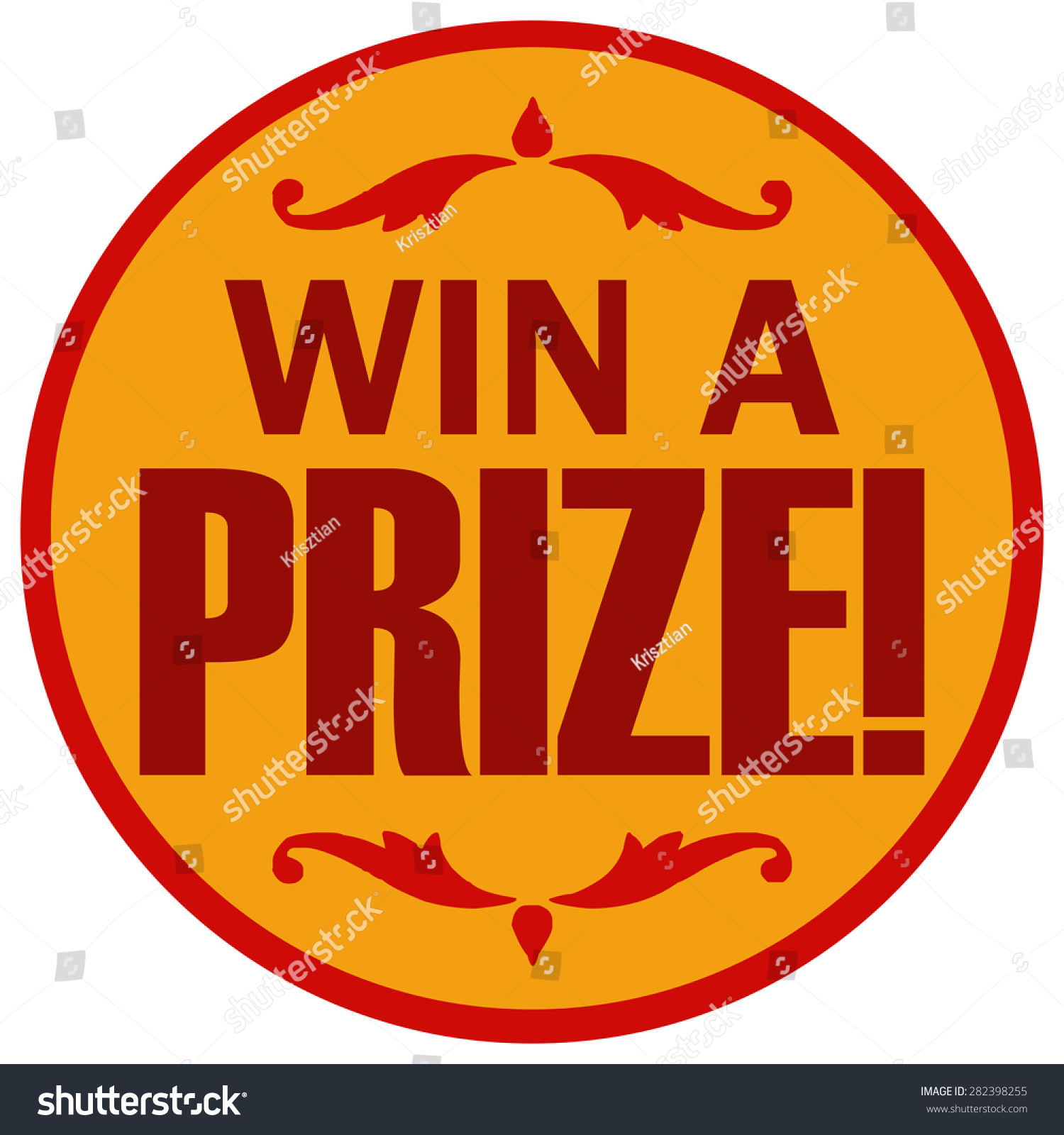 Win A Prize Clipart win a prize yellow and red round sticker sign ...