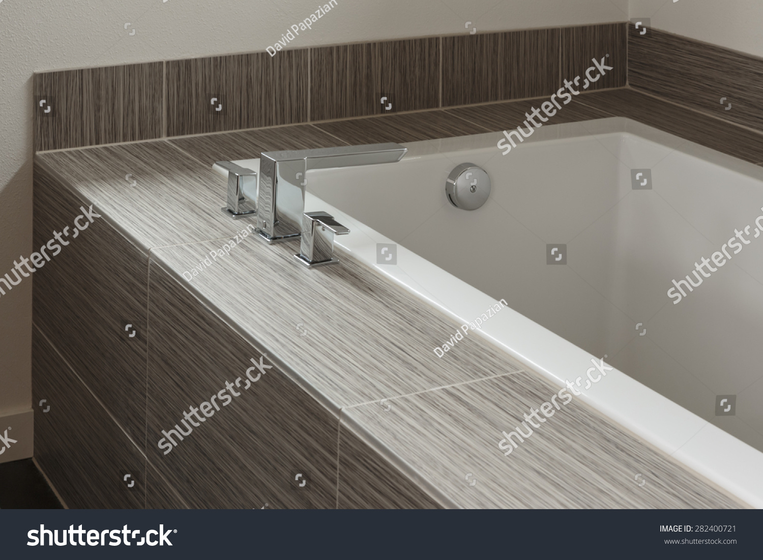 Modern Bathtub Tile Trim Stock Photo (Edit Now) 282400721 - Shutterstock