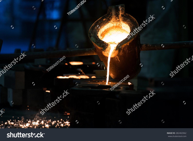Foundry Crucible Molten Steel Stock Photo - Image of ... |Molten Metal Crucible