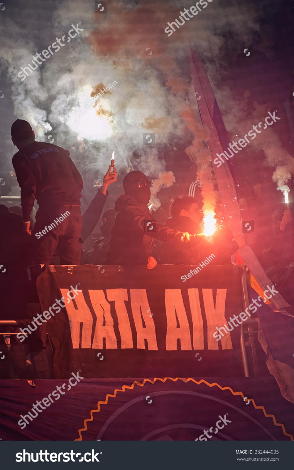 Stockholm Sweden May 25 Ultras Masked People Stock Image 282444005