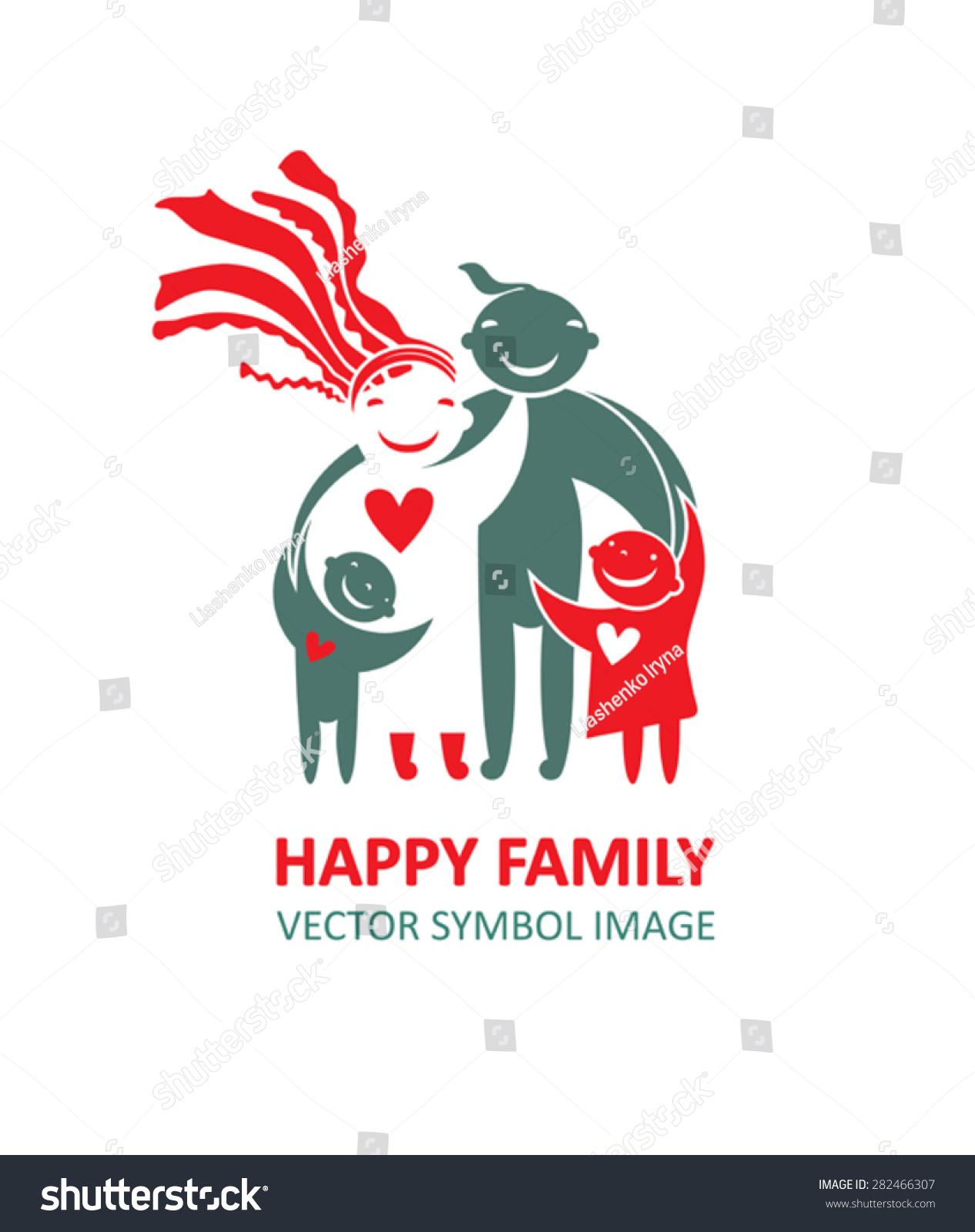 Happy Family Beautiful Ukrainian Family Stock Vector Royalty Free