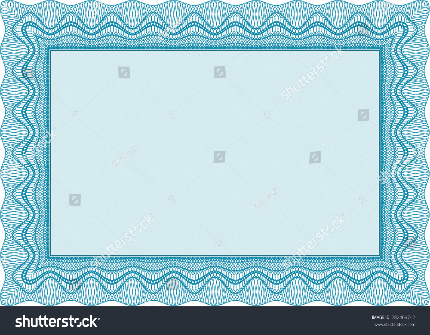 Sample Certificate Frame Certificate Template Vector With Stock ...