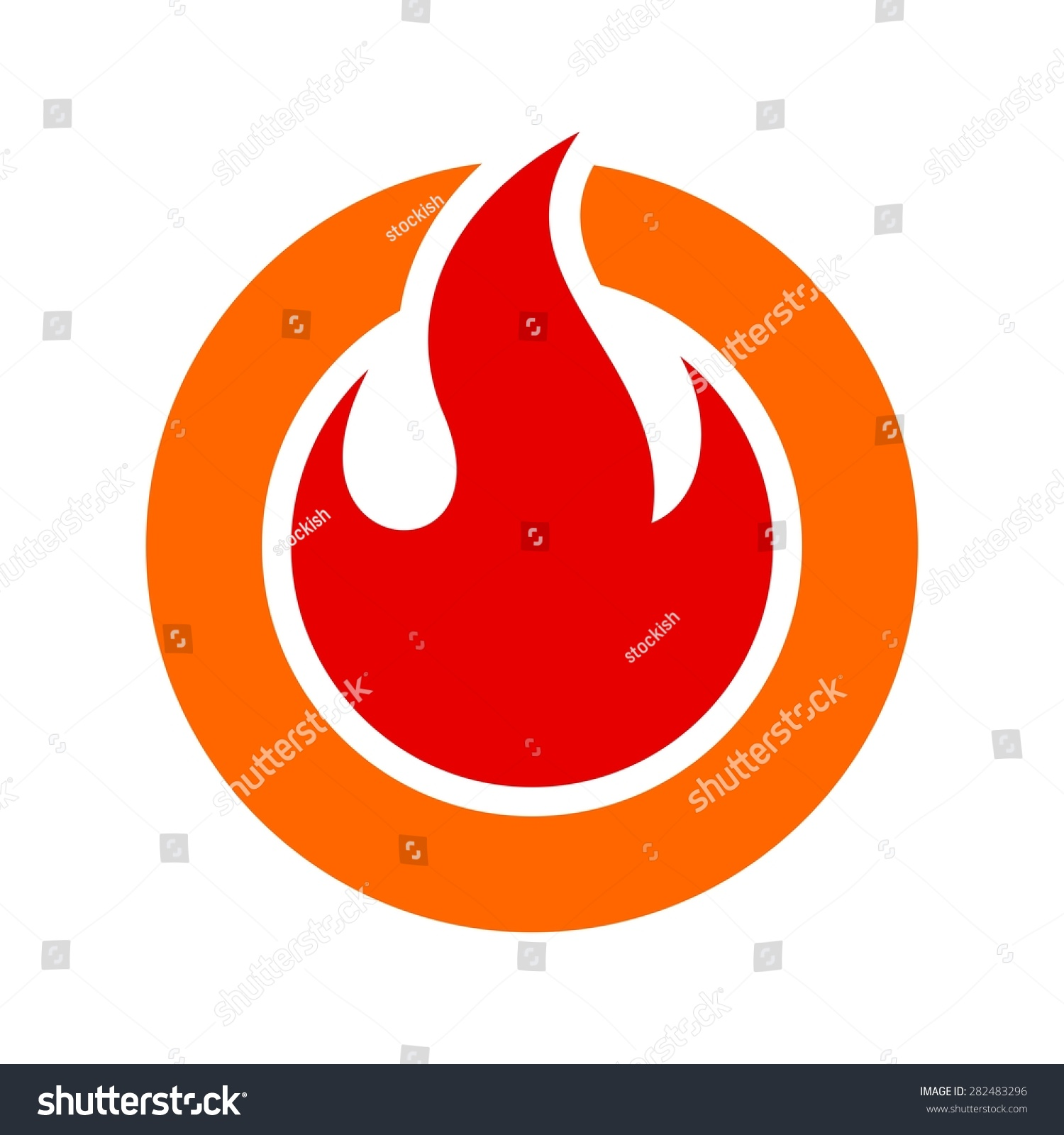 fire flame fire logo vector template stock vector royalty free
