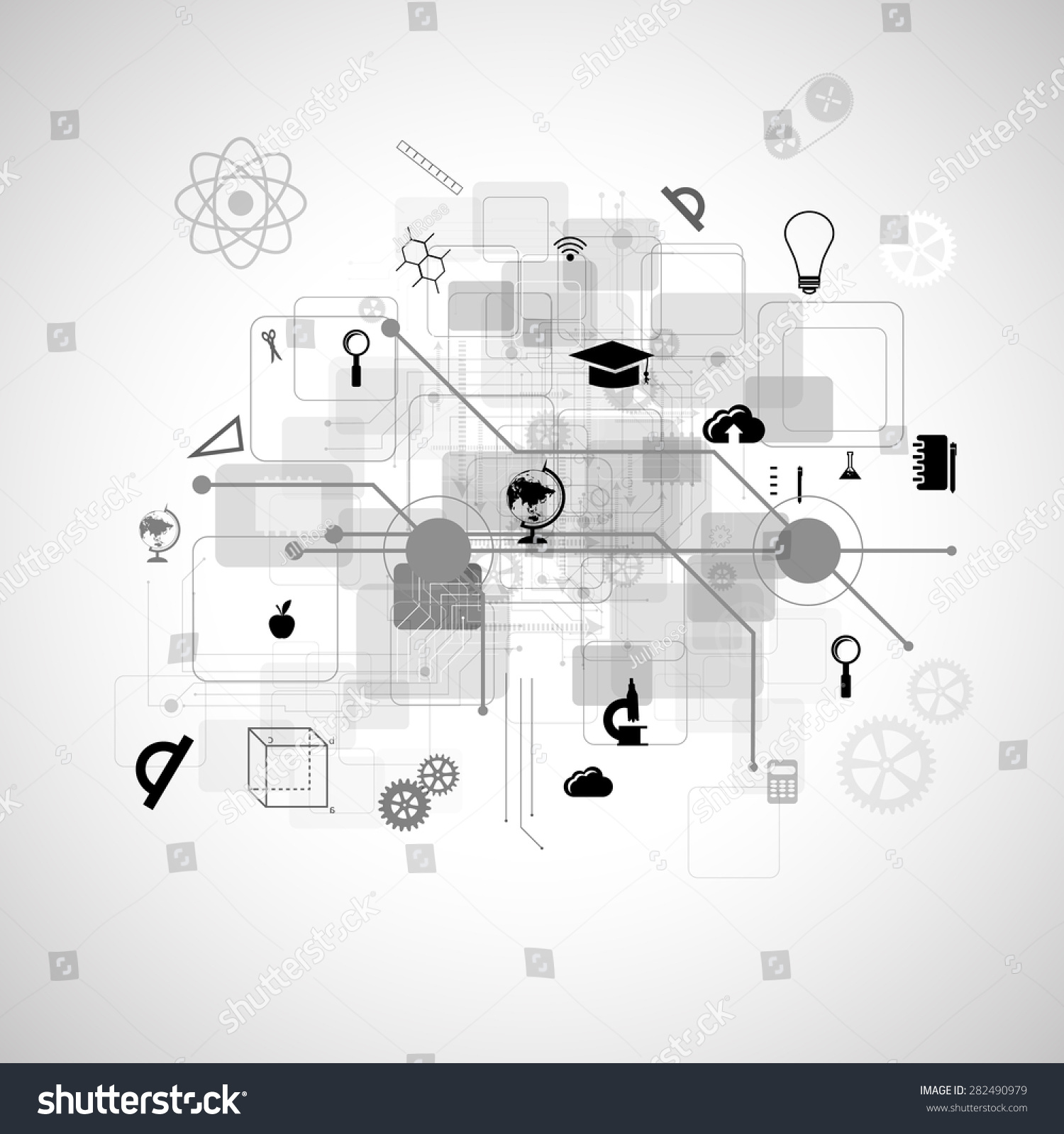 Tree diagram online dolgular education online learning tree knowledge icons stock illustration ccuart Choice Image