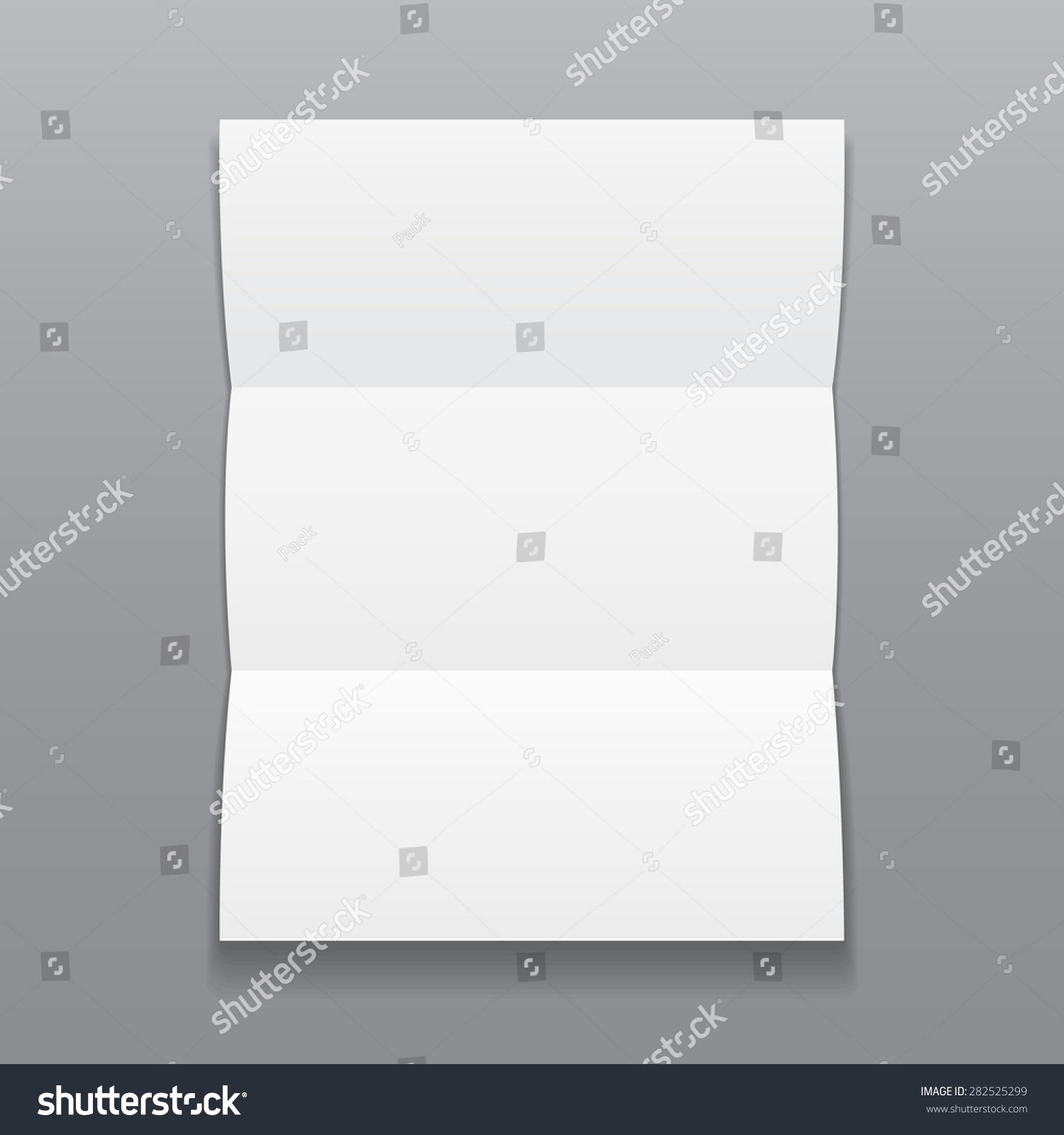 blank trifold paper brochure shadows on stock vector royalty free