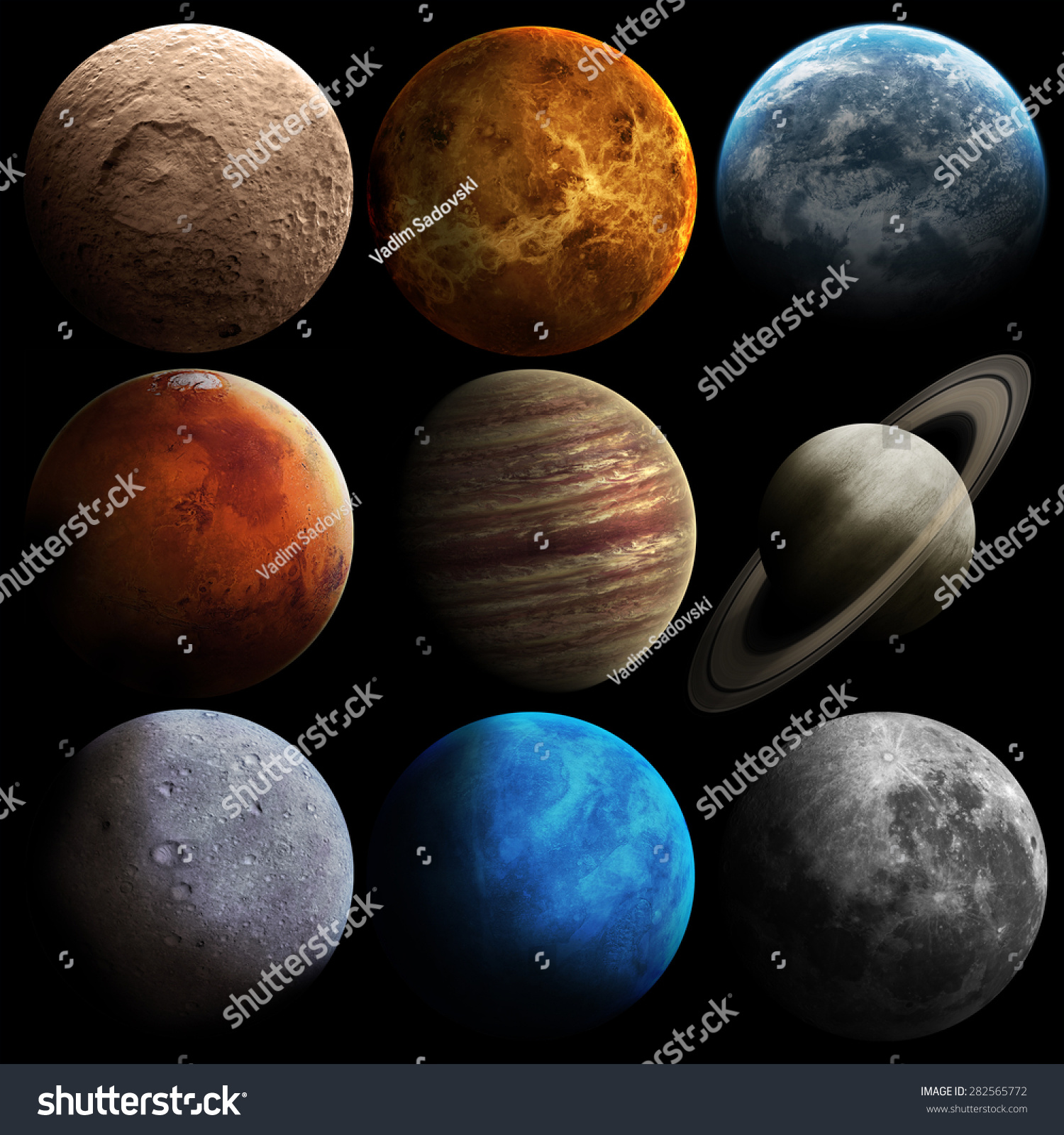 Hight Quality Solar System Planets Elements Stock Photo ...