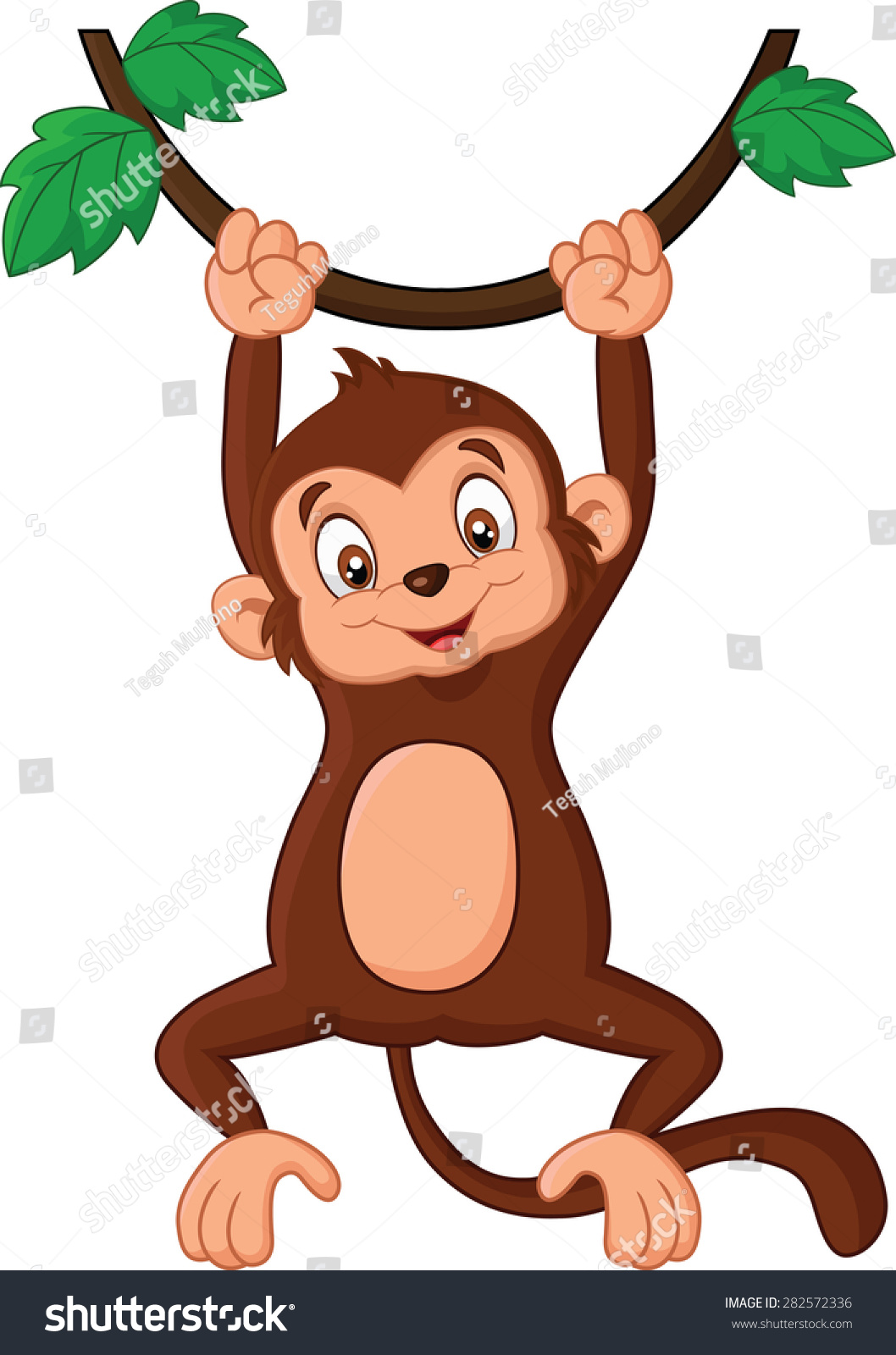 animated monkeys hanging from trees