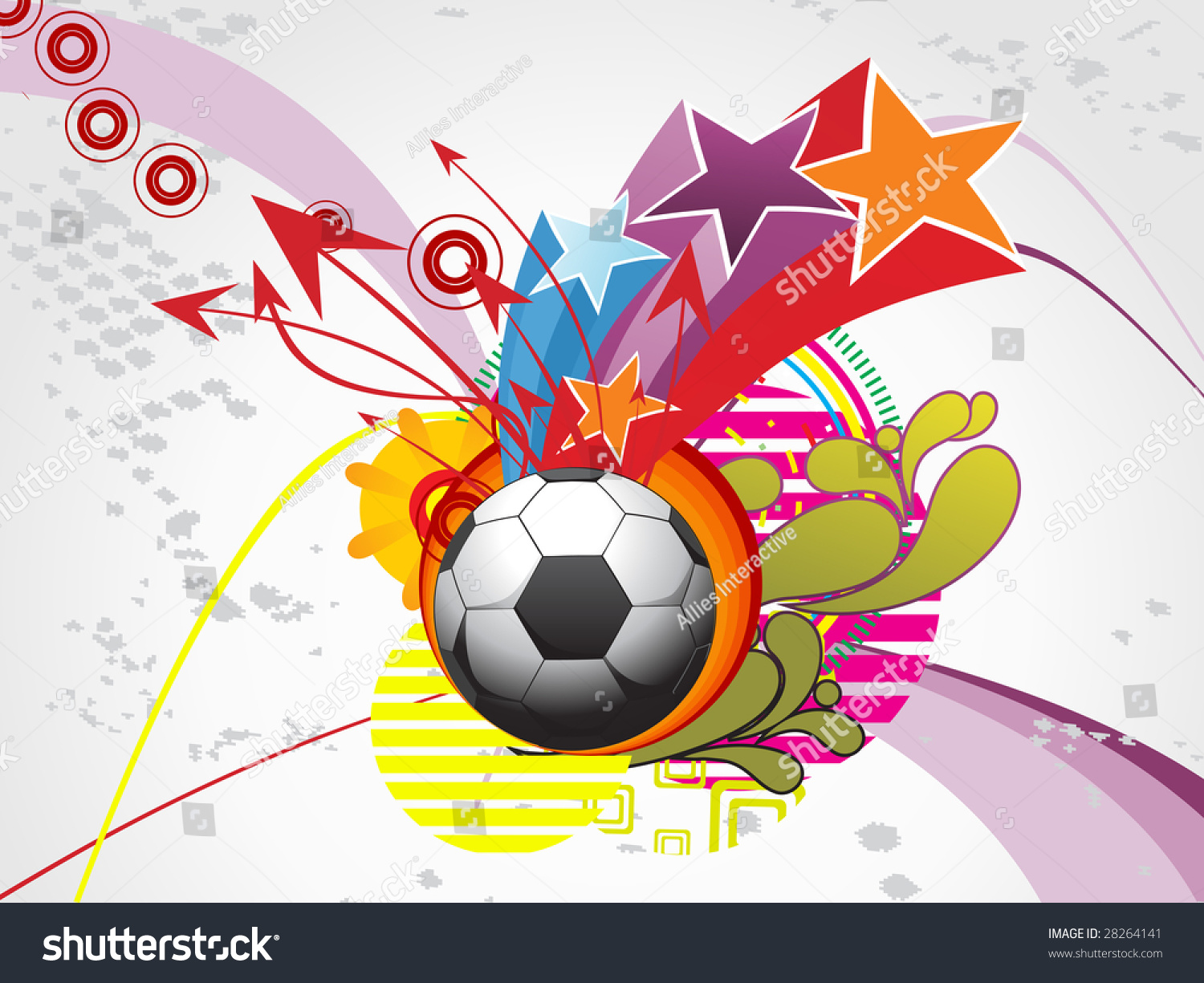Abstract Grungy Background Volleyball Arrowhead Stock: Abstract Artistic, Funky Background With Football And