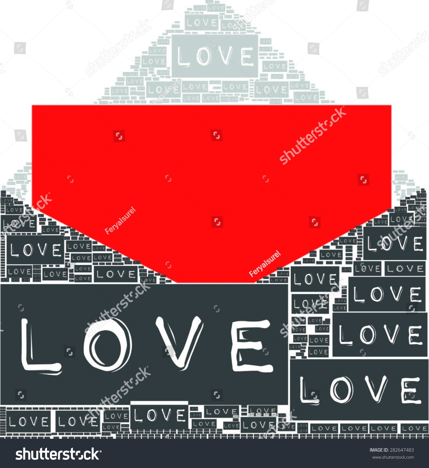 Shirt design envelope - Love Letters Become Envelope Design And Red Paper Letter Together Vector Print Pattern For T