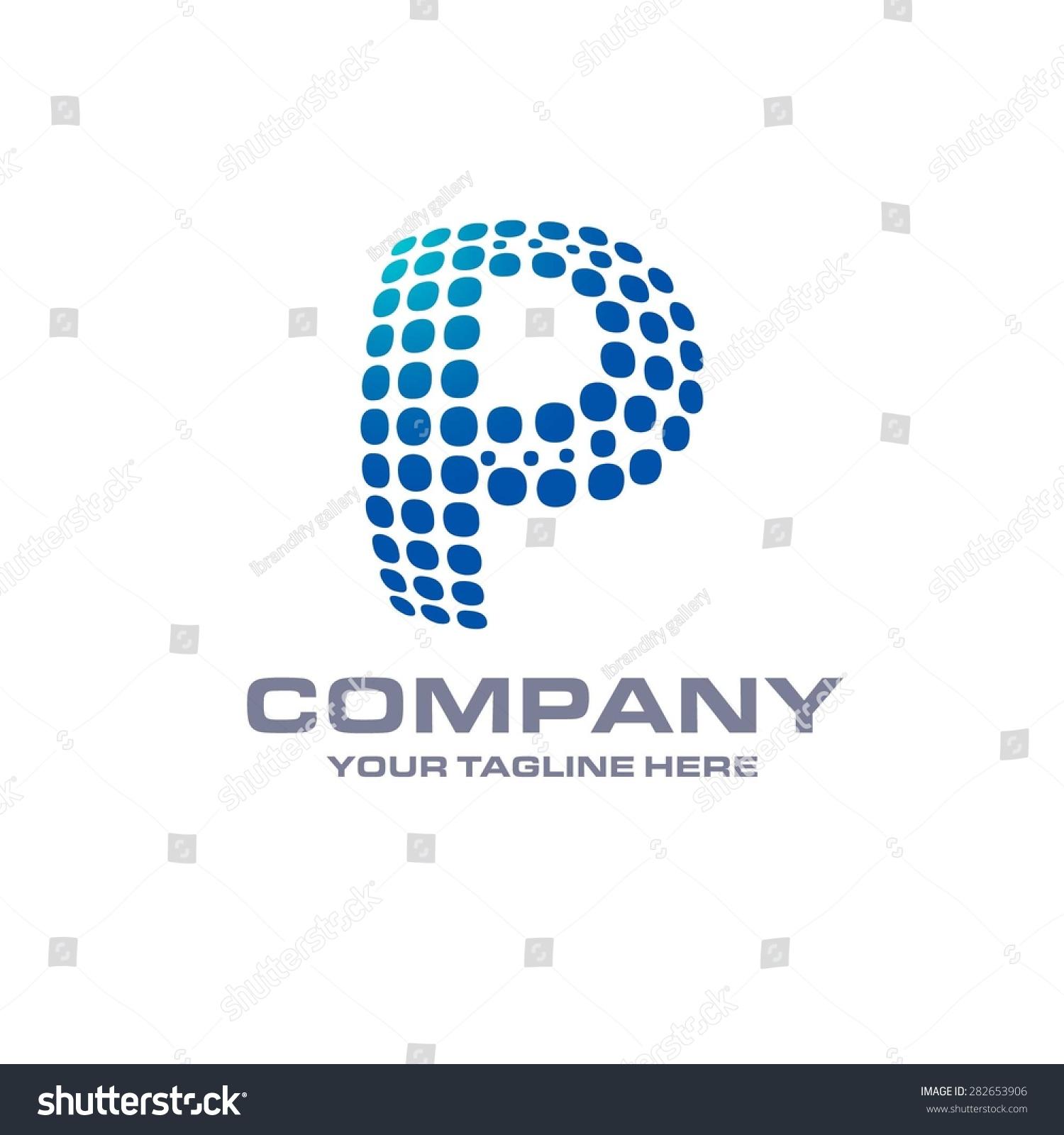 Letter P Logo Blue Bol...P Logo Name