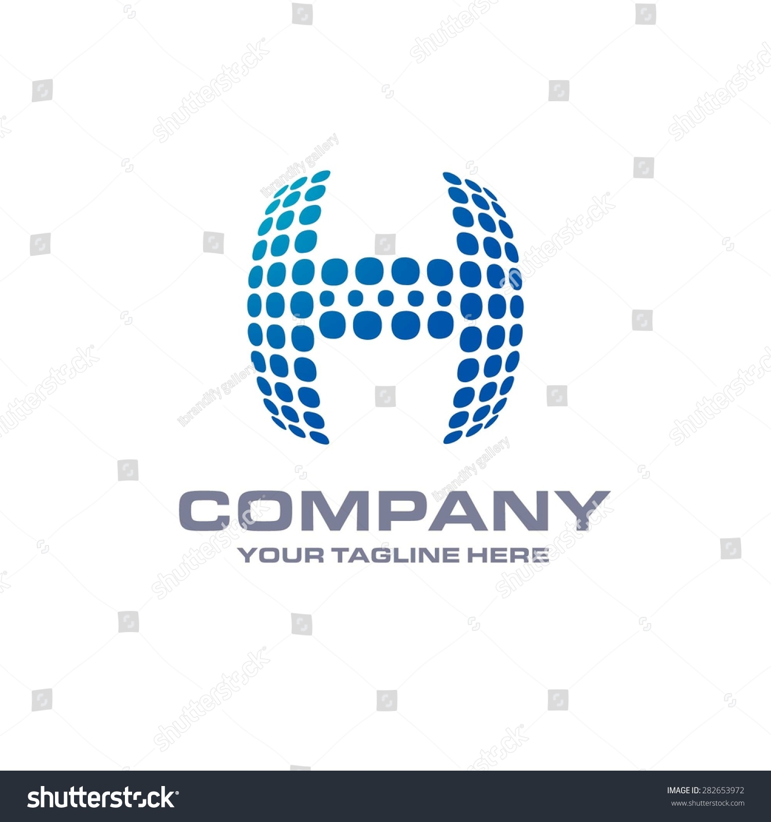 H tag background image - Letter H Logo Blue Bold Sphare Logo On White Background Place For Company Name