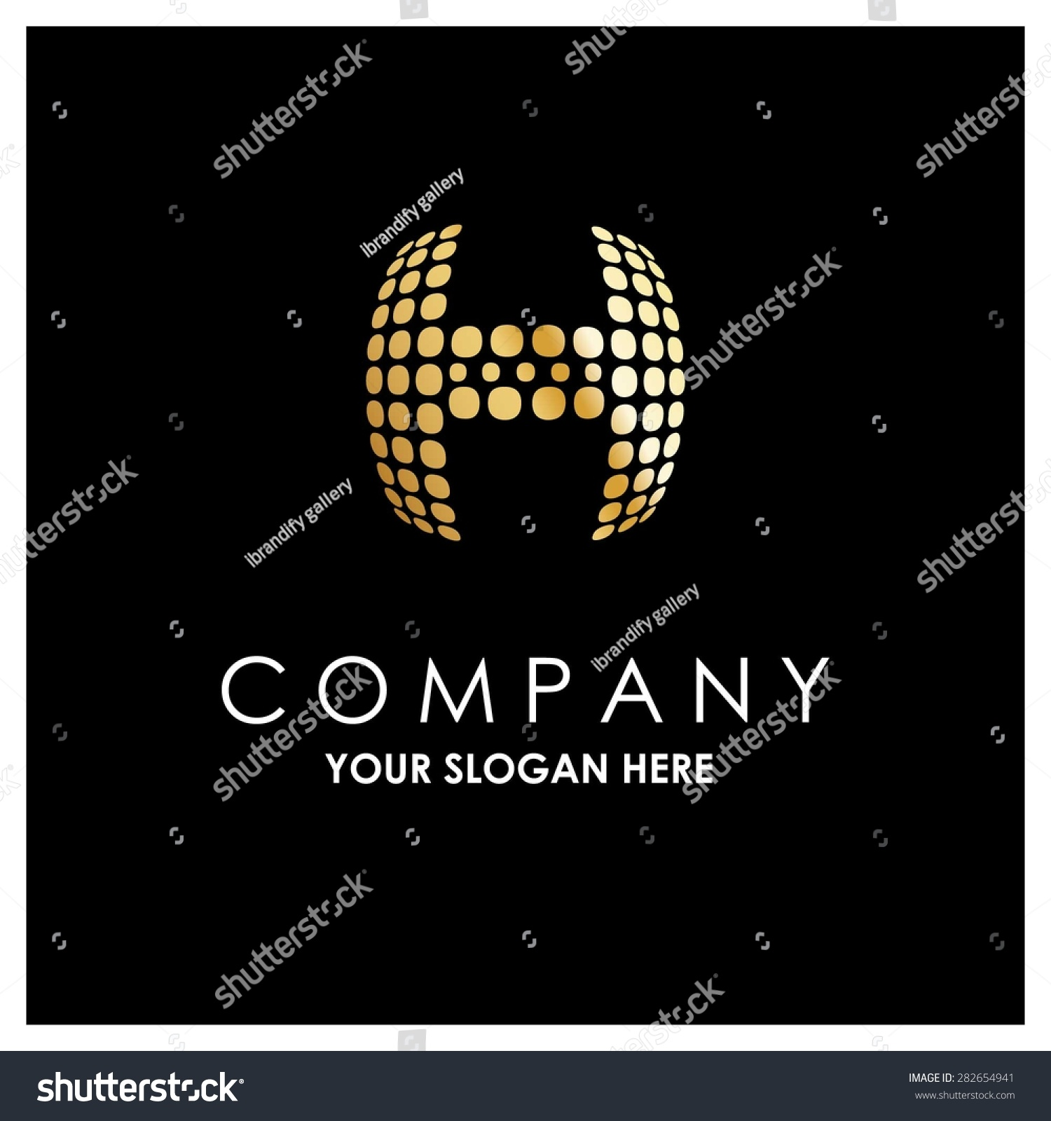 H tag background image - Letter H Logo Golden Bold Sphare Logo On White Background Place For Company Name