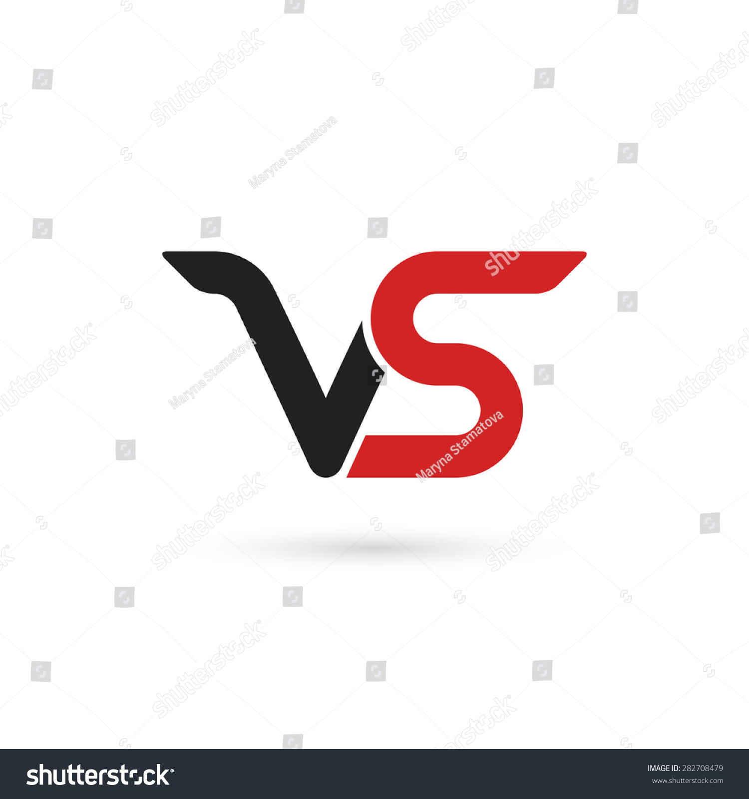 Versus Letters Logo Letters V S Stock Vector Royalty Free
