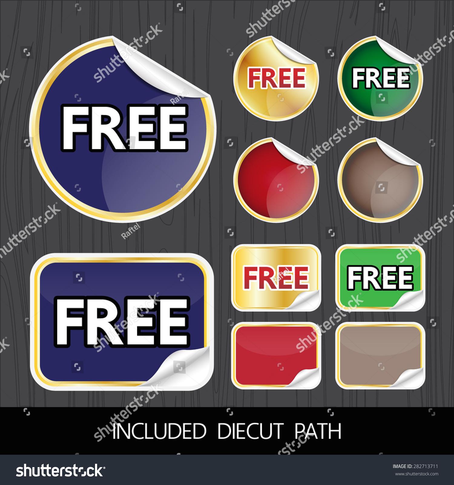 free badge sticker logo label design stock vector royalty free