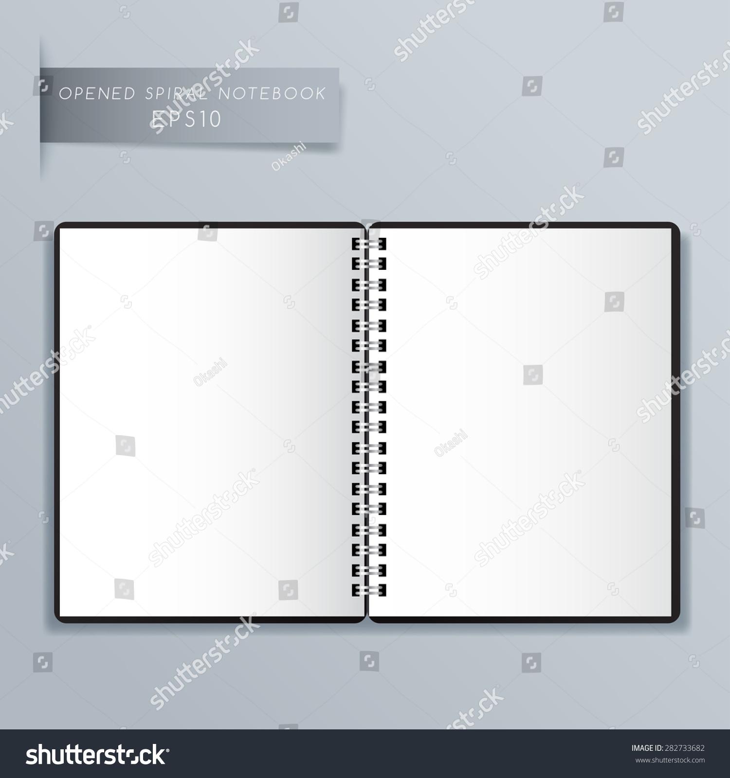 Blank spiral notebook template vector illustration stock vector blank spiral notebook template vector illustration alramifo Gallery