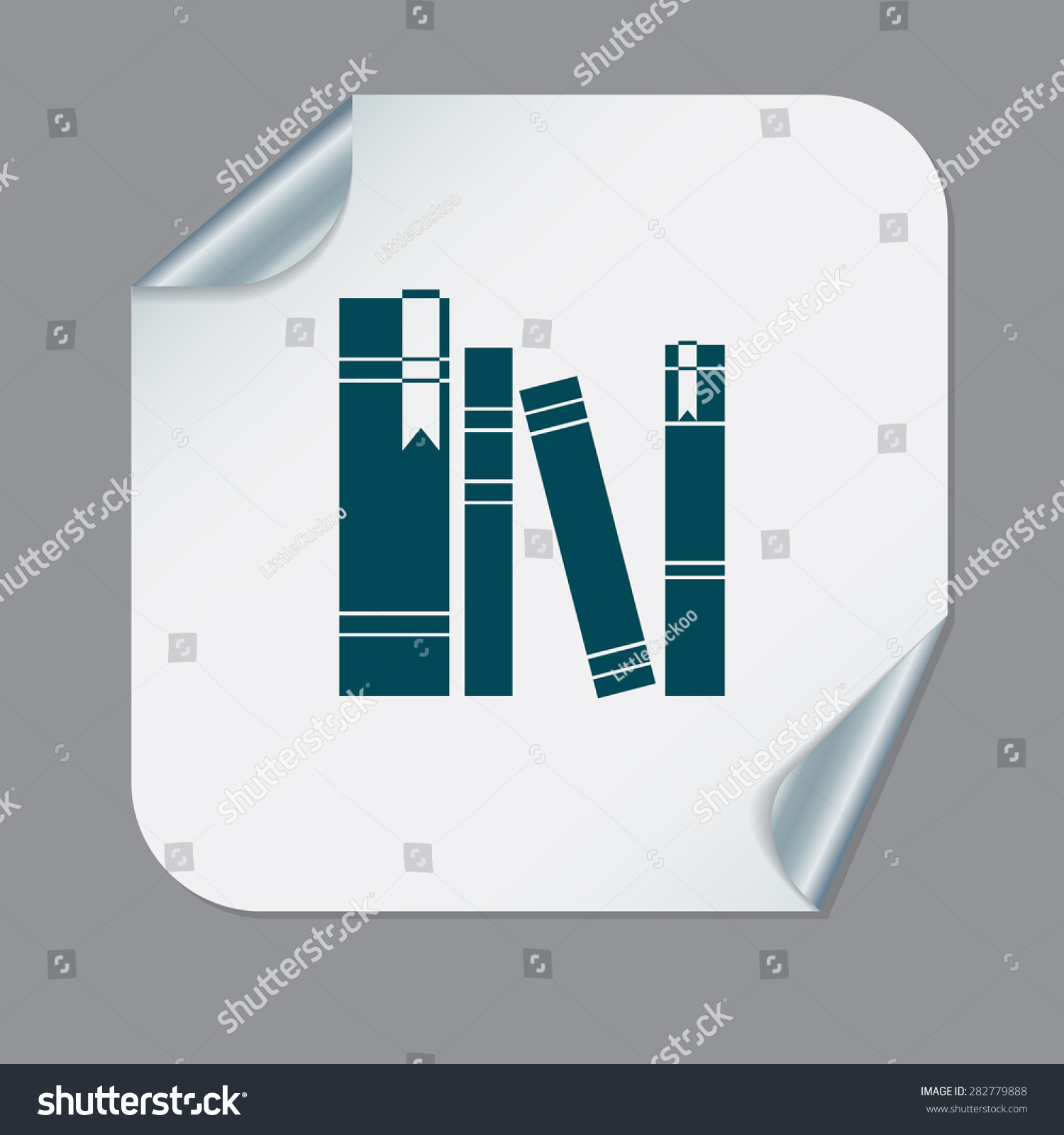 Book Spine Spines Books Icon Symbol Stock Vector 282779888