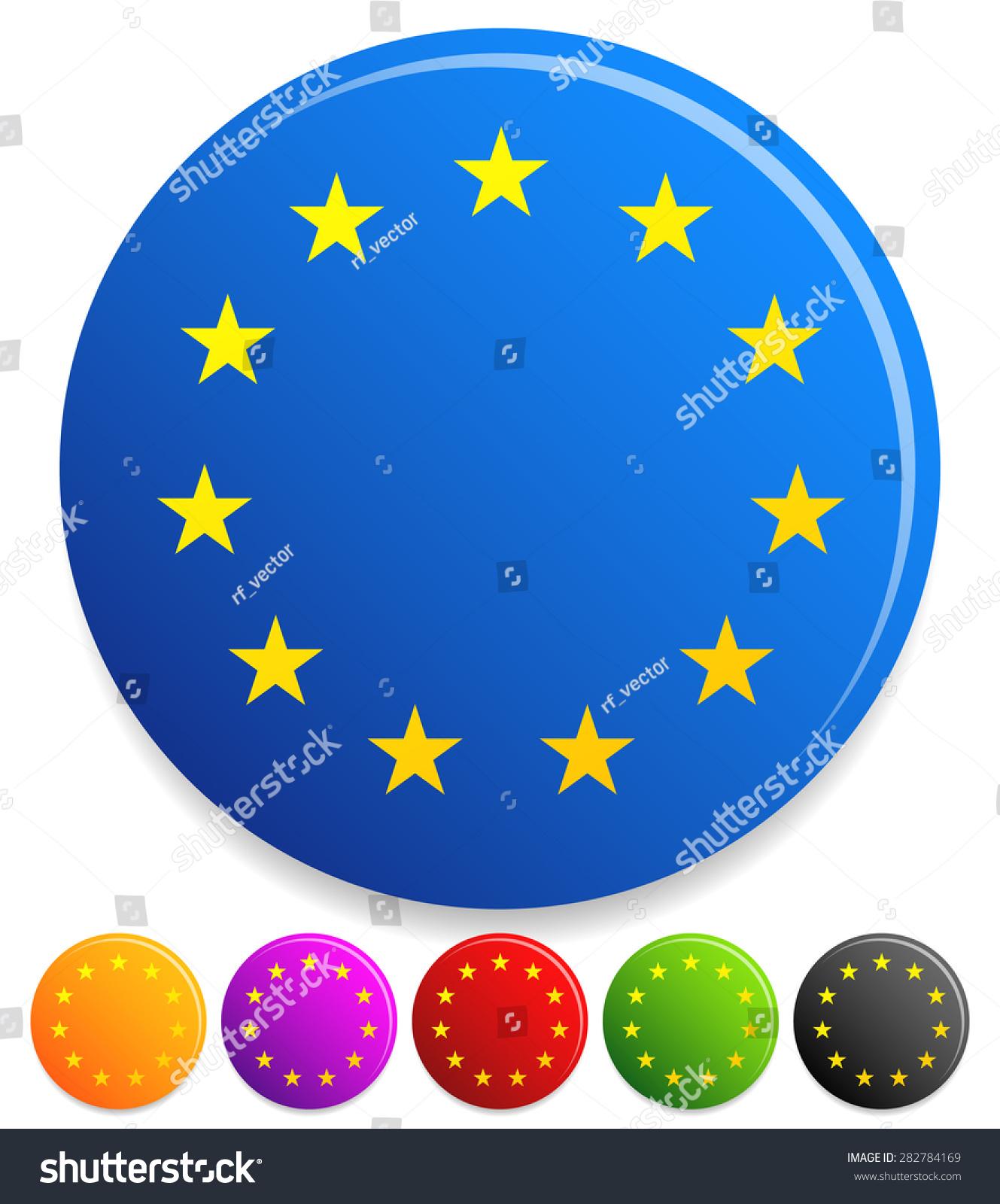 12 Stars Circle Award Prize Certification Stock Vector Royalty Free