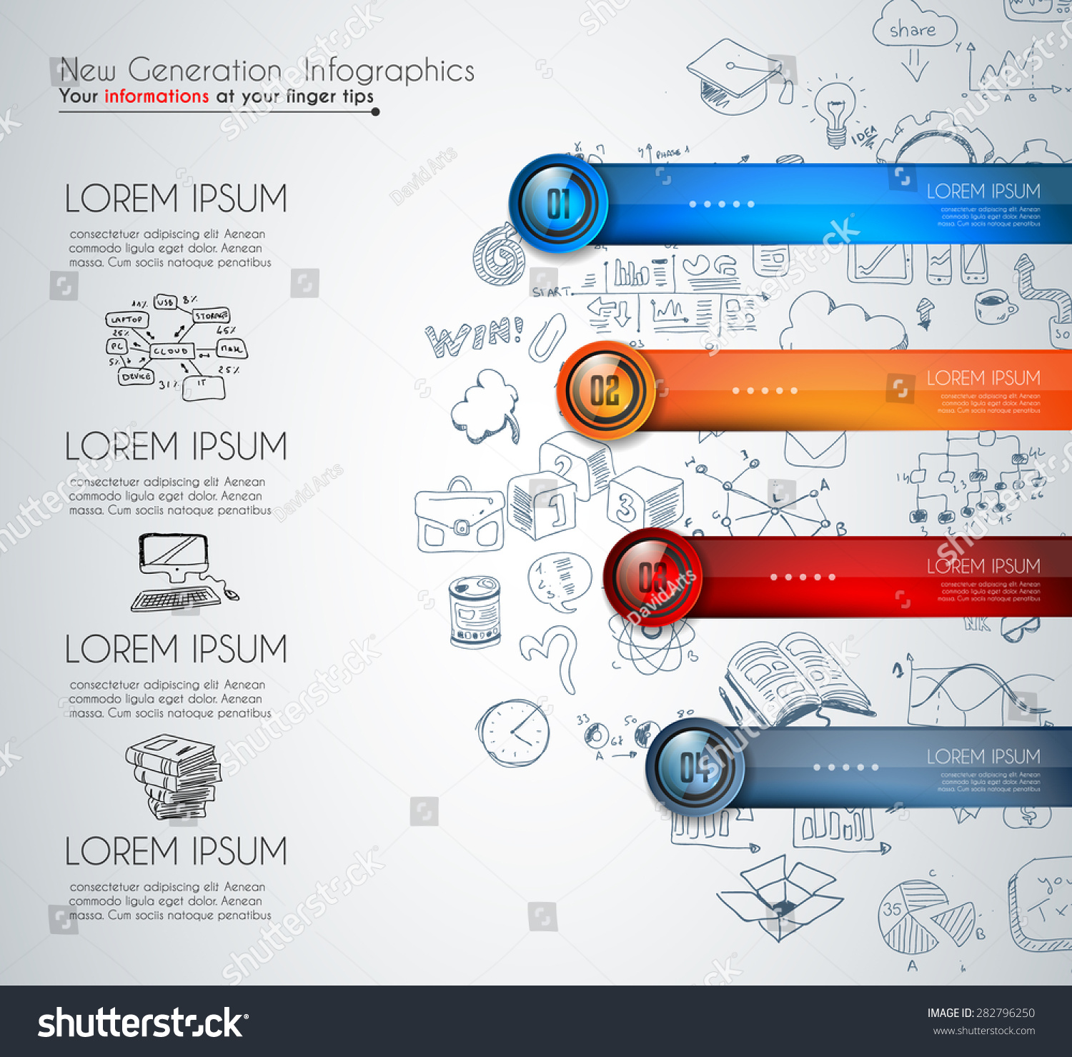 Infographic Template Modern Data Visualization Ranking Stock Vector
