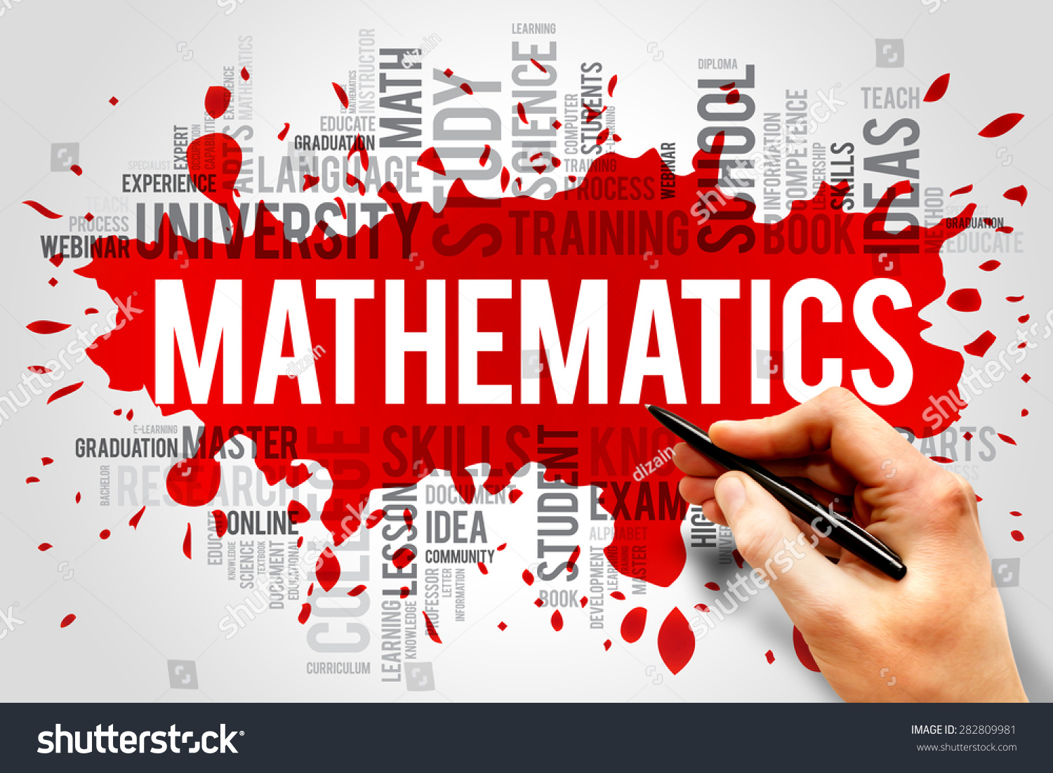 Mathematics Word Cloud Education Concept Stock Photo 282809981 ...