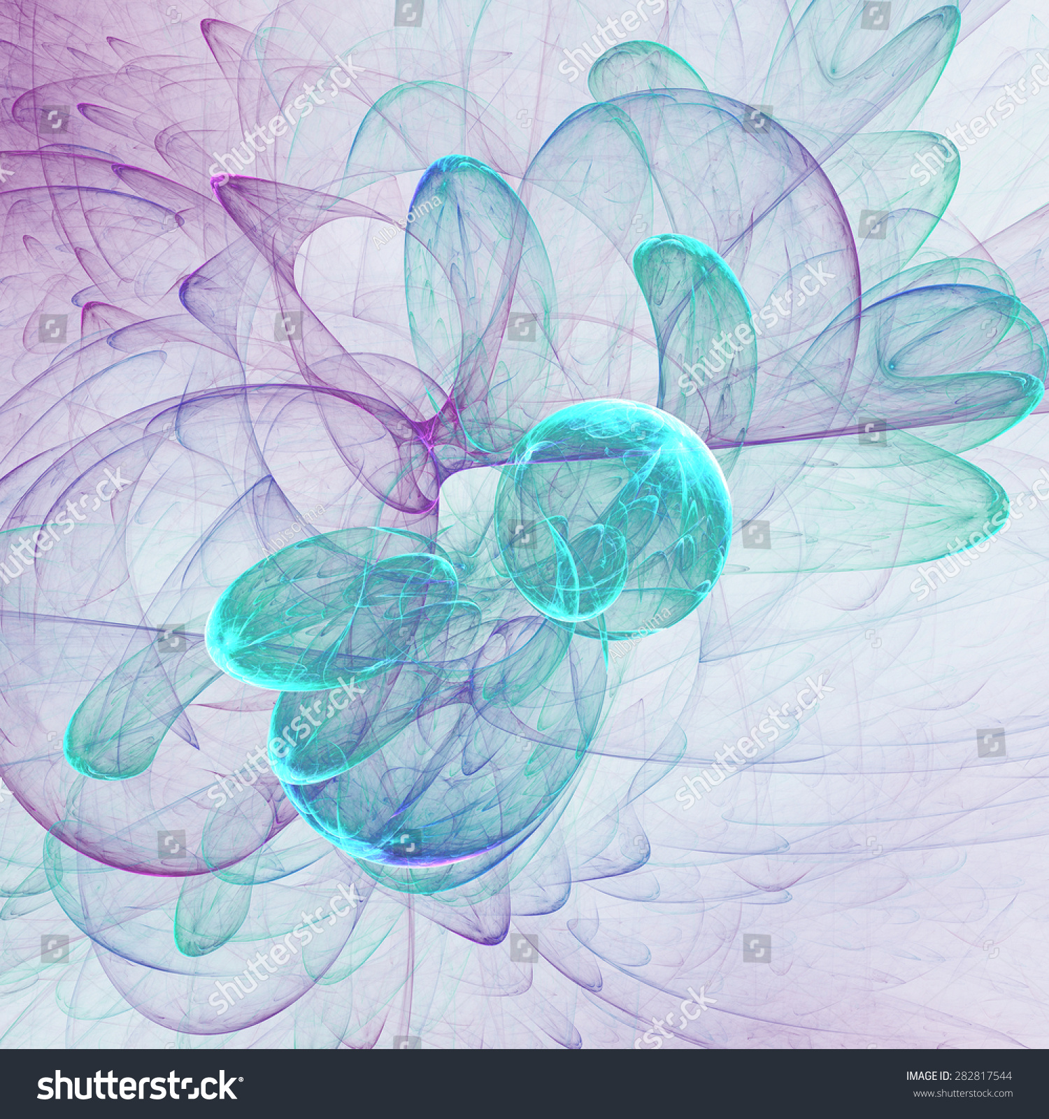 Nice Abstract Fractal Wallpaper On White Background Stock