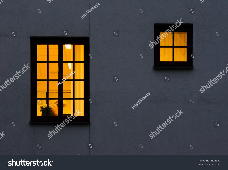 Look Through Windows Outside Inside Lightened Stock Photo 2828322 ...