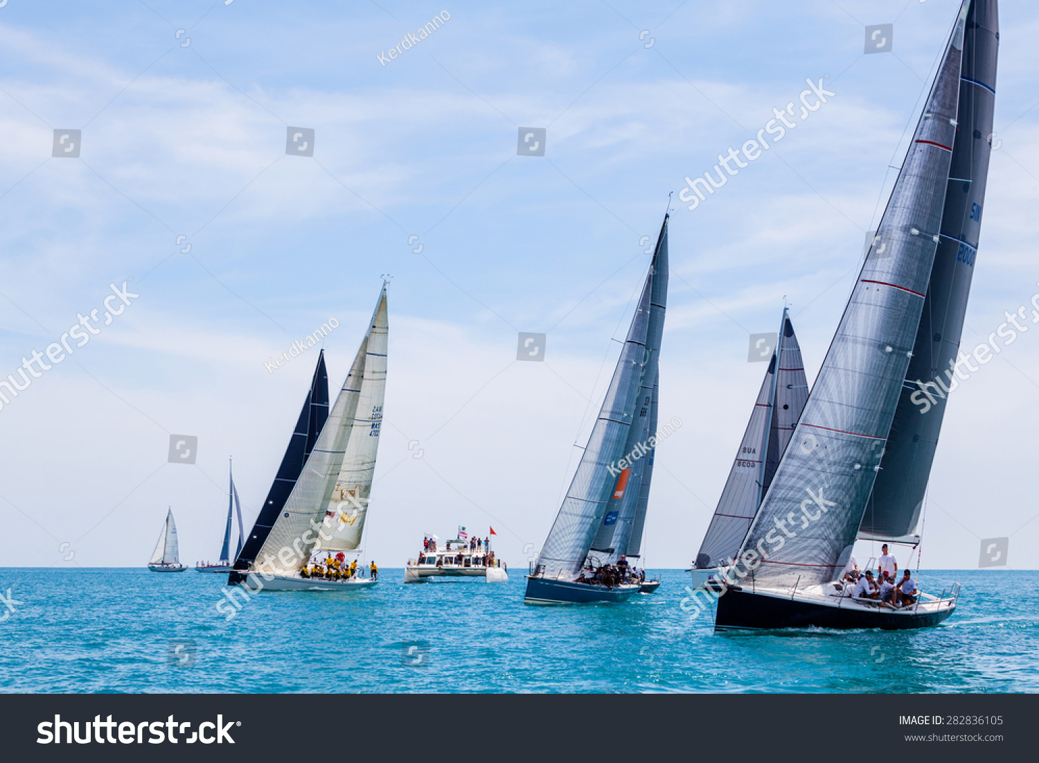 SAMUI REGATTA 2015 THAILAND MAY 30 Event at Chaweng beach Koh Samui island Thailand May 30 2015