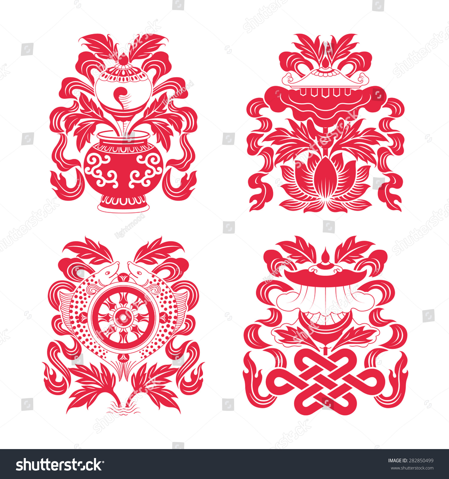 Tibetan buddhists make use particular set stock vector 282850499 tibetan buddhists make use of a particular set of eight auspicious symbolseach of the biocorpaavc Gallery