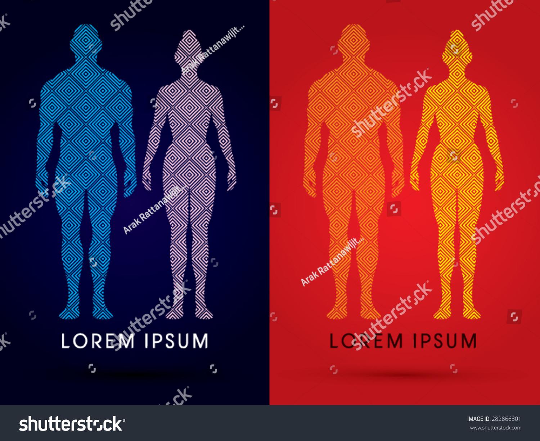 Male Female Anatomy Human Body Full Stock Vector 282866801 ...