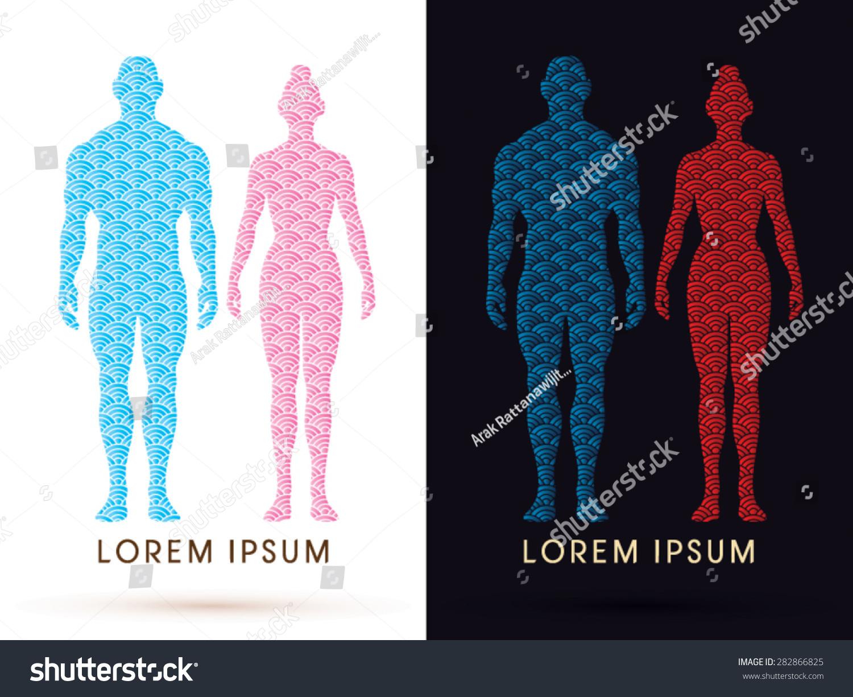 Male Female Anatomy Human Body Full Stock Vector (Royalty Free ...