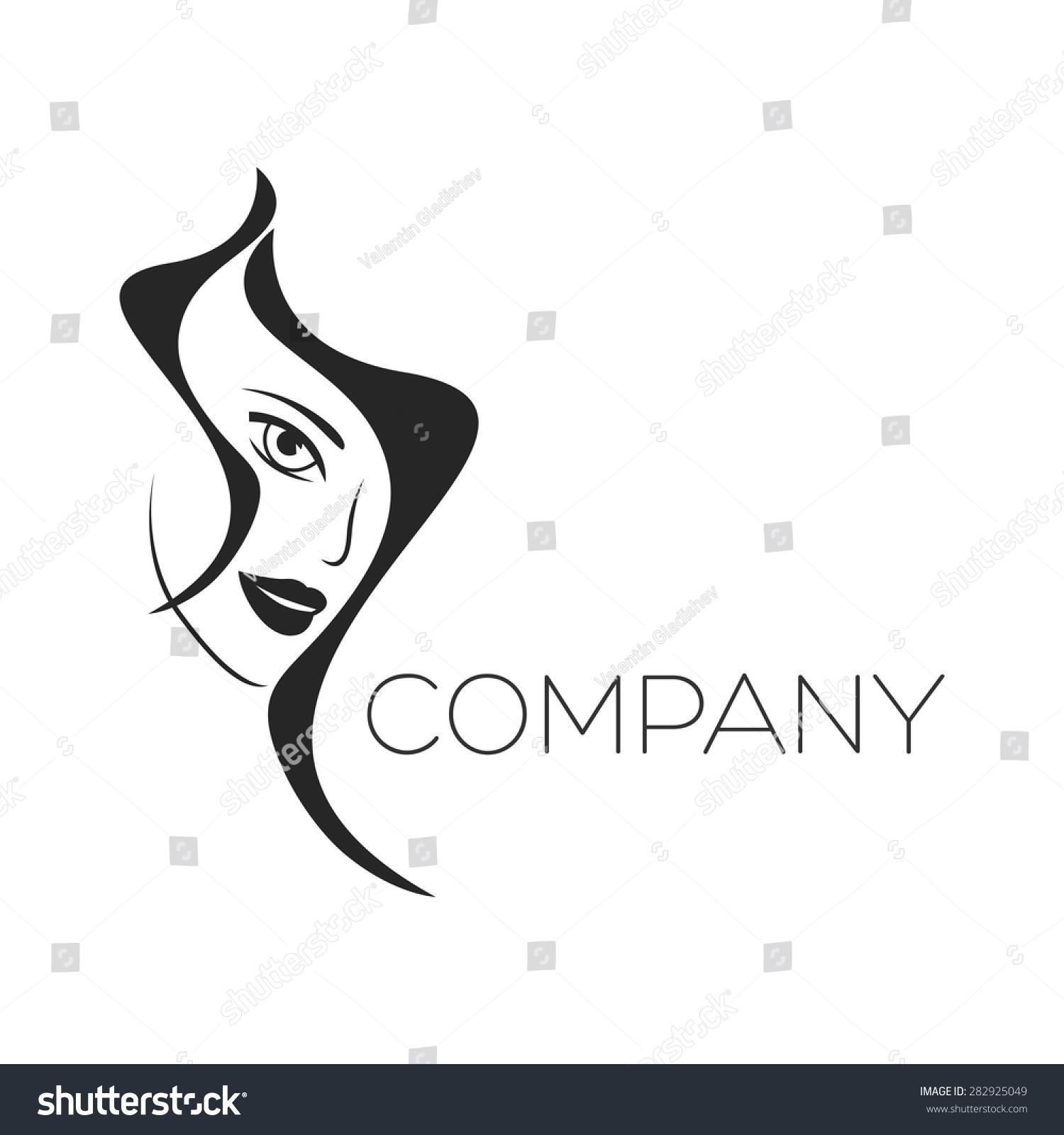 Womans Beauty Face Logo Stock Vector 282925049