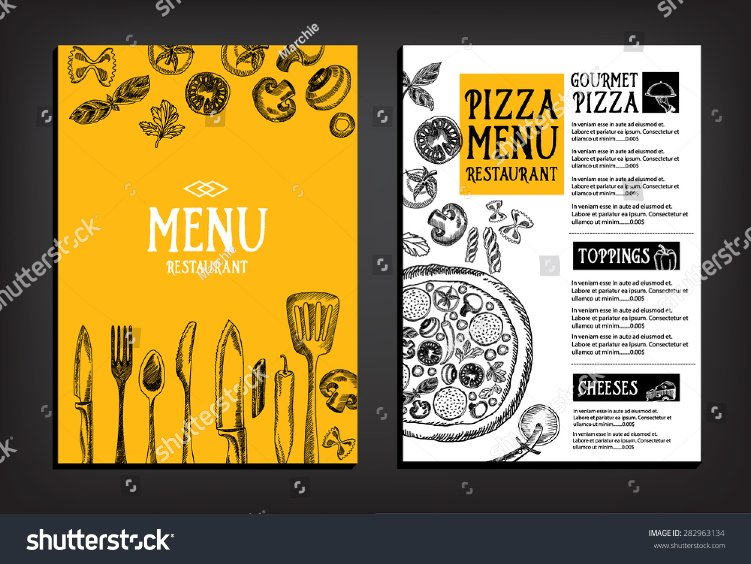 Cafe Menu Restaurant Brochure Food Design Vector 282963134 – Restarunt Brochure