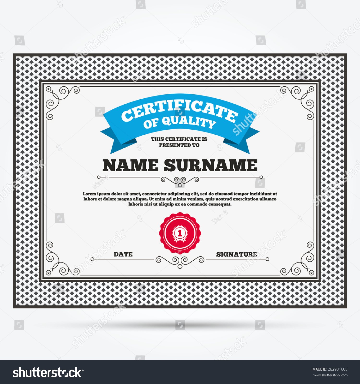 1st place certificate