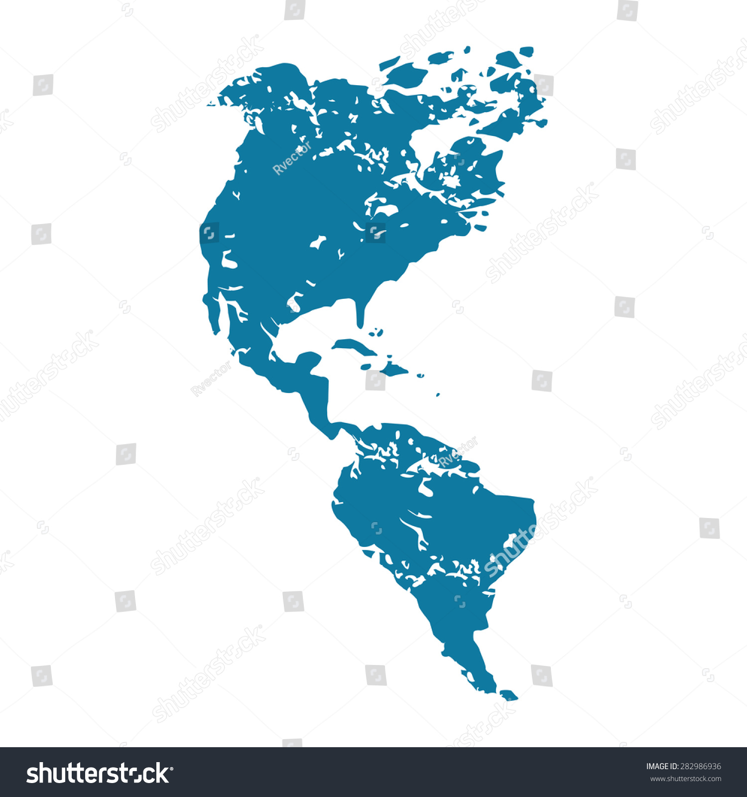 north america map and navigation icons illustration stock map of