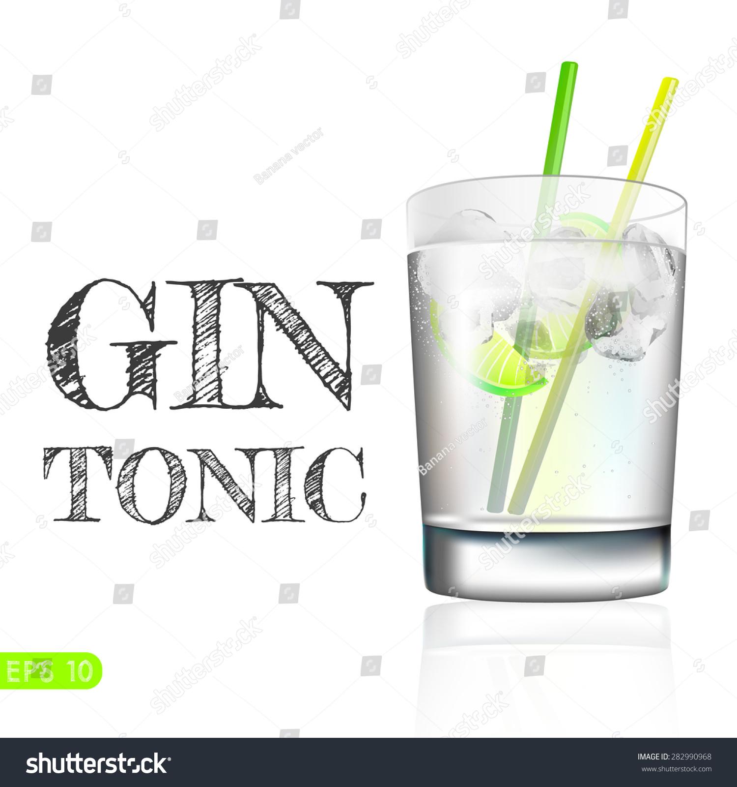 Balloon Gin Glass Vector