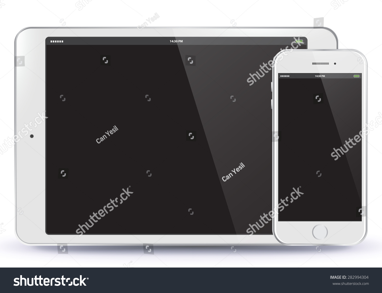 平板电脑和手机矢量插图 EPS10 科技 海洛创意 HelloRF Shutterstock中国独家合作伙伴 正版素材在线交易平台 站酷旗下品牌