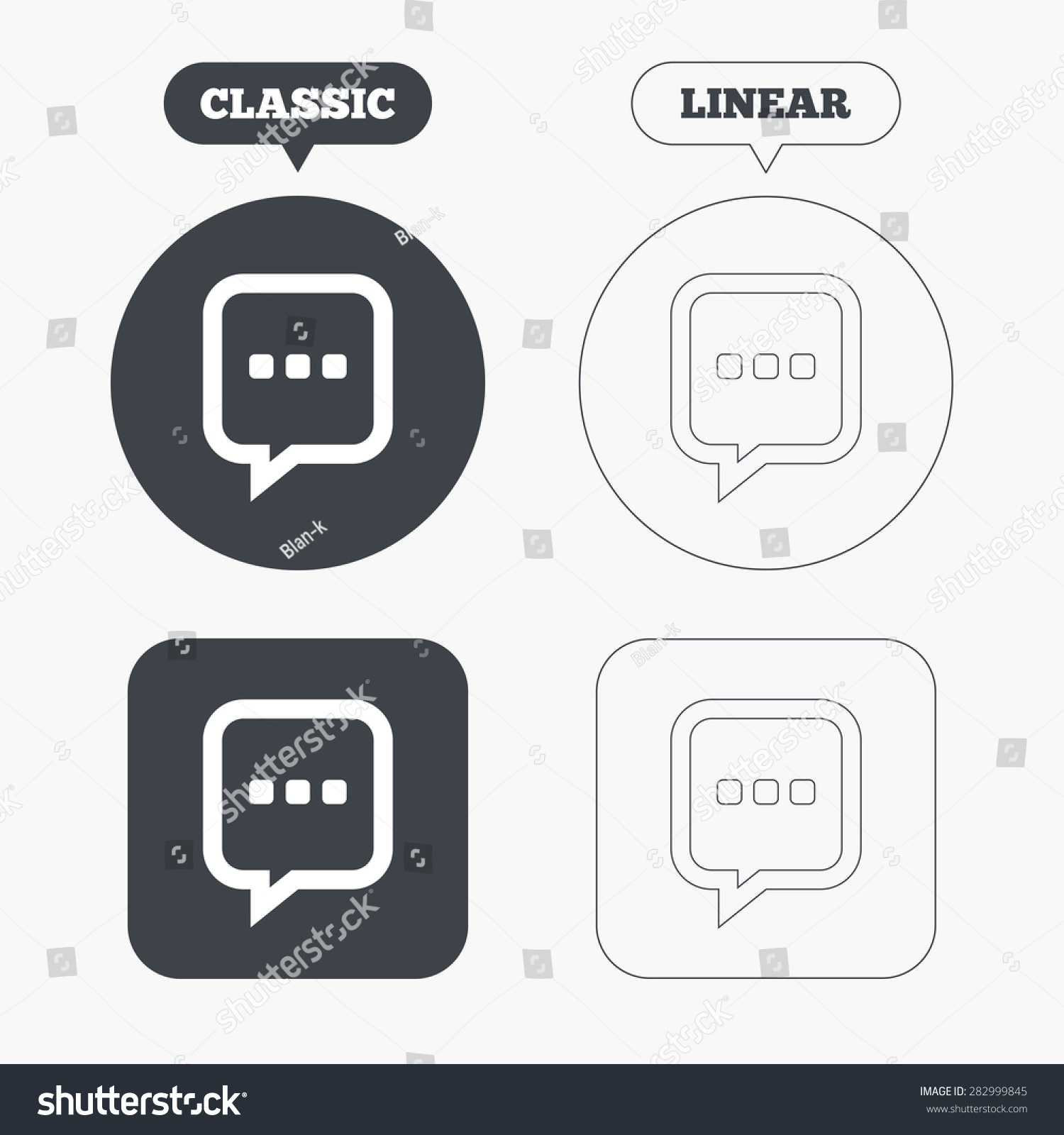 Chat sign icon speech bubble three stock vector 282999845 speech bubble with three dots symbol communication chat bubble classic biocorpaavc