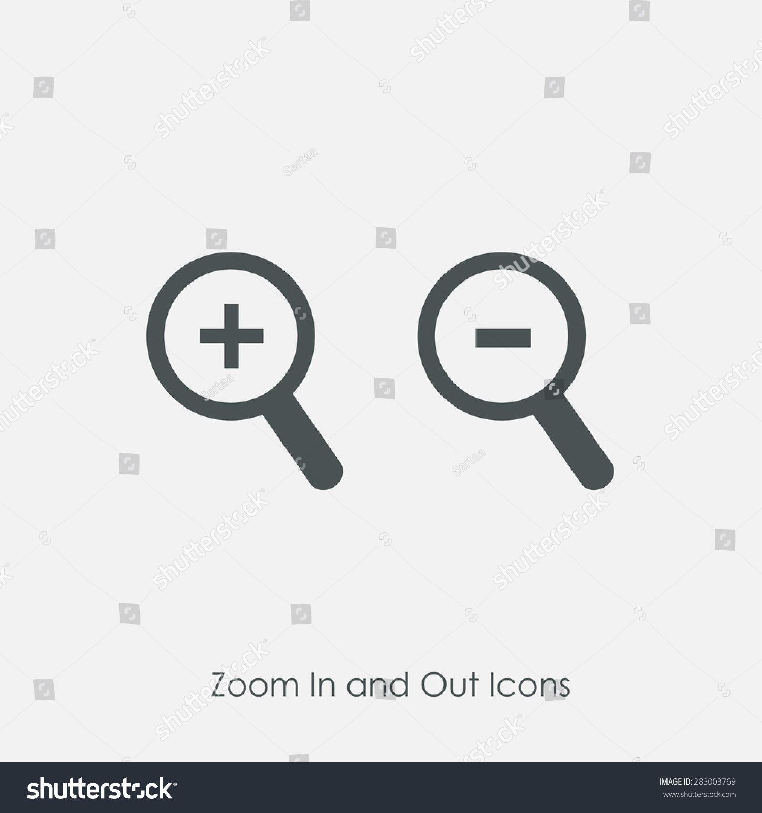 Zoom in and zoom out icons simple zoom in zoom out magnifier glass