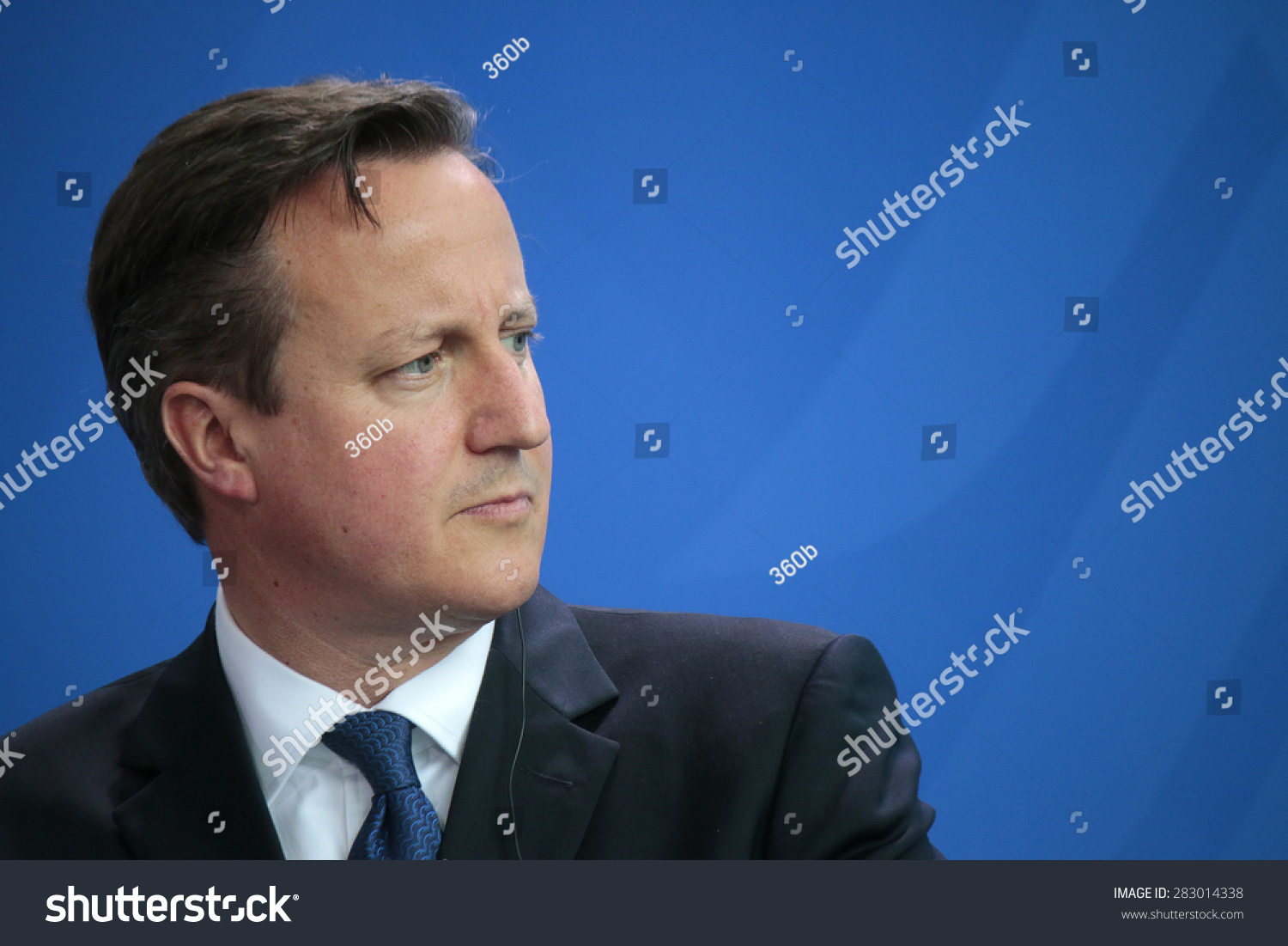 MAY 29 2015 BERLIN British Prime Minister David Cameron at a press conference after a meeting with the German Chancellor in the Federal Chancellery in Berlin