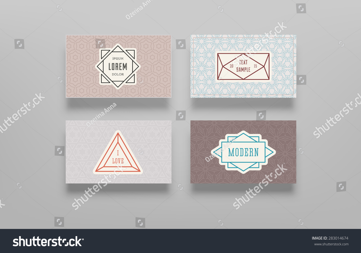 Graphic Design Templates Logo Labels Badges Stock Vector 283014674 ...