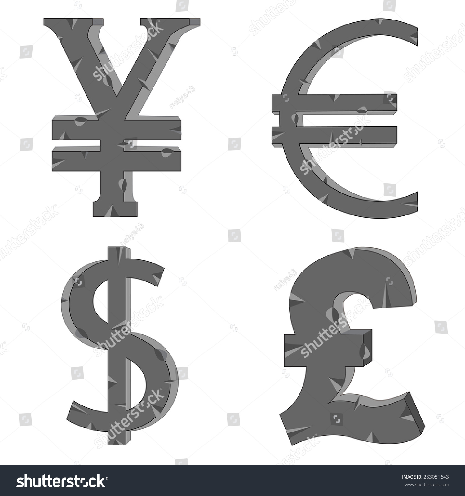 Money signs symbols different countries stock vector 283051643 the money signs and symbols of the different countries buycottarizona
